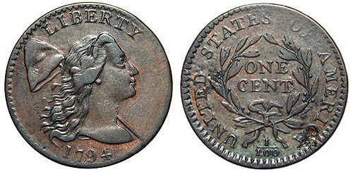 Almost Good Cond  Lot# AT-54 Details about  /1796 S-87 Large Cent Liberty Cap type